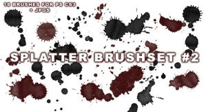 18 Splatter Brushes for PS CS3 by wickedjess