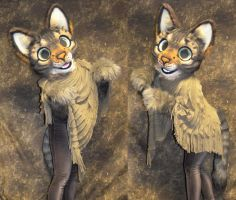 Tabby Cat Partial by temperance