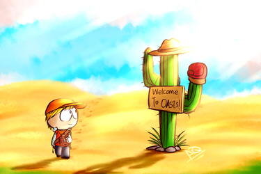 Kenny's travel : Desert oasis by aq1218