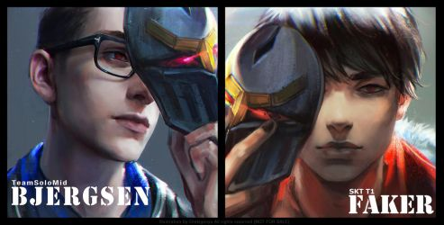 LOL FanArt Bjergsen Faker with ZED by OrekiGenya