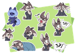 [Commission] Sepia Telegram Stickers by CutePencilCase