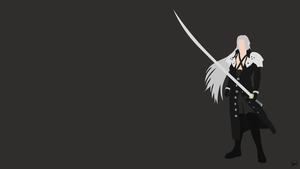 Sephiroth (Final Fantasy VII) Minimalist Wallpaper by greenmapple17