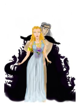 Persephone and Hades by soilik