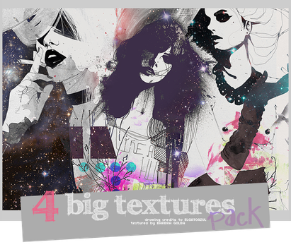 4 Big Fashion Textures by BarbraGolba