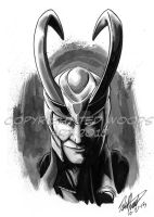 INKtober 2015 Day 22: Loki by tedwoodsart