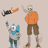 Underswap - Sans and Papyrus by AlyNaly