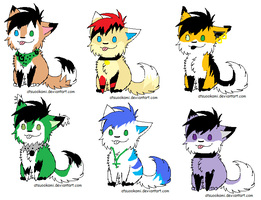 Adoptables set by TheFurryFriend