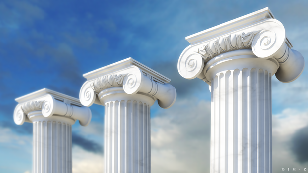 Ionic order columns by GIM-Z