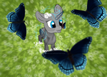 Flower Field Butterflys Ych by Buchner-Art