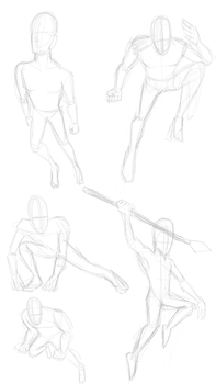 pencil sketches 2 poses by Cassiusthedemon