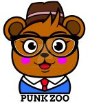 Hipster Bear for Punk Zoo by genkimon