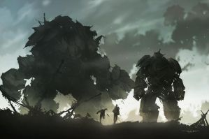 Golem vs Mech by FacundoDiaz
