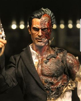 Completed 1:12  Two Face figure by PlasticSurgen