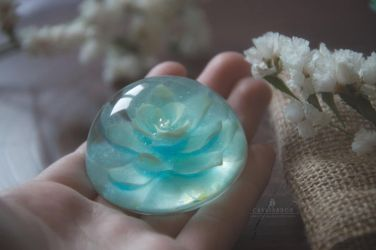 Magical Succulent Plant (Handmade with Resin) by Crystarbor