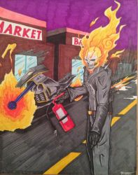 Ghost Rider clean up by shroomstone