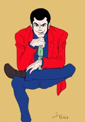 Sitting Lupin the Third by ShinRedDear