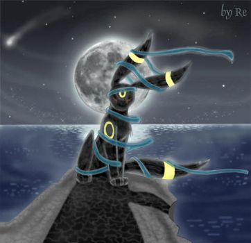 Umbreon-the guard of night by Reina-Kitsune