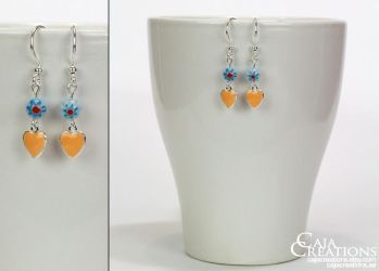 Summer crush earrings (OOAK) by petrova