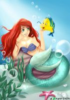 Ariel and Flounder by Kyorin24