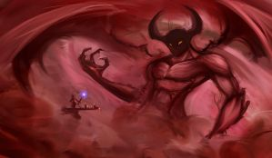 Cloudy Red Devil Thingy by ravens-raziel