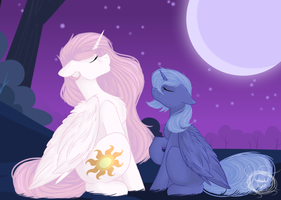 ((F-A)) Howling at the moon... by SylnodelLight