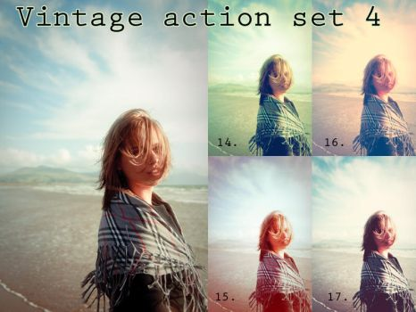 Vintage action set 4 by beckasweird