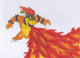 bowser flaming by Mike-Obee-Lay