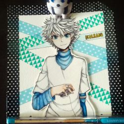 Commission - Killua for ashiterukillua (IG) by karennpuff