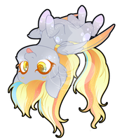 Rainbow Power Chibi Redux - Derpy by FuyusFox