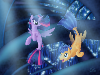 Swimming in a Flash by NightPaint12