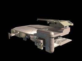 Flatbed Maintenance ship front by D-Mounty