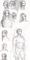 First sketches of Undyne by FioreValentine