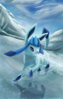 Glaceon by Cinnamon-Quails