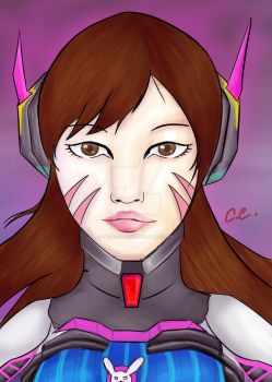 DVA from Overwatch by krypticmaster