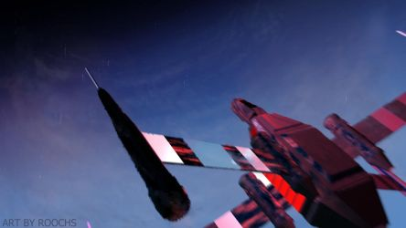 Spaceship in space by Roochs