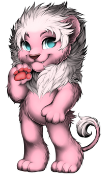 Pink Lion by pookacrew