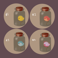 [Adoptables] Bottle Birdies [CLOSED] by tamaneko-i-b