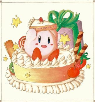 Kirby Cake by Icy-Snowflakes