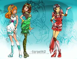 Ever after high OC: Thimble, Priscilla and Rosie by Israel42