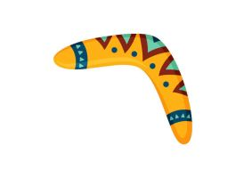 Boomerang Vector Illustration by superawesomevectors