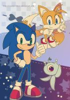 Sonic Colours Poster by Crystal-Ribbon