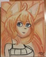 Ninetails: [ Human form] by cutelittlepikakitty