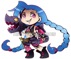 Jinx Chibi by RinTheYordle