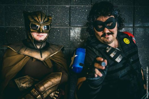 Nite owl and Comedian SUPER EFFECTIVE PHOTOGRAPHY by ramtopsman