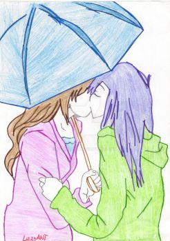 In the rain, but still together! by LizzyANT