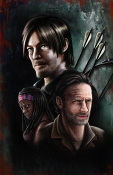 The Walking Dead poster by AngeloQuintero
