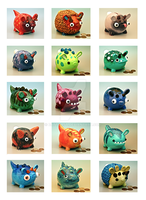 Monster Money Banks Series 2 by EatToast