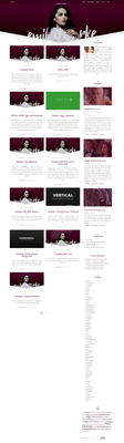 Emilia Clarke Wordpress theme by cherryproductionsorg