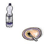 [D80] Water Bottle and Plate with Fork by RetSamys