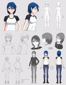 Zoe (character sheet commission) by Precia-T